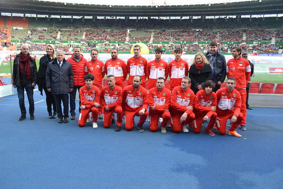 Verabschiedung zum World Cup beim Länderspiel Österreich-Albanien