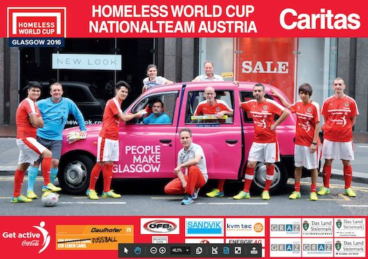 Das Homeless World Cup Team 2016