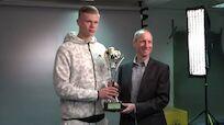 Haaland erhielt Pokal als Österreichs Fußballer des Jahres