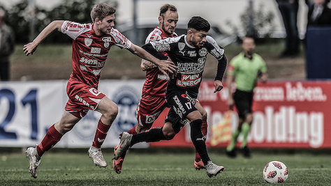 Vorwärts Steyr feierte überraschenden 2:1-Sieg beim FAC