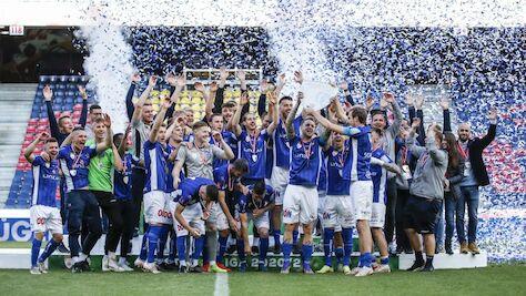 Der FC Blau Weiß Linz ist Meister in der 2. Liga