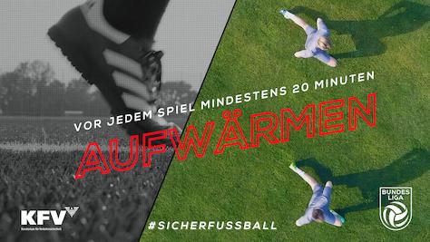 Mit der Österreichischen Fußball-Bundesliga und dem Kuratorium für Verkehrssicherheit gesund am Platz – gemeinsame Kampagne #SICHERFUSSBALL