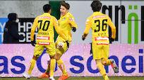 Austria rettete frühes 1:0 bei Ried in Unterzahl über Zeit