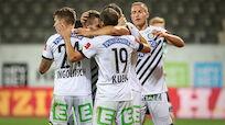Sturm Graz besiegte Rieder Rumpfteam 2:0