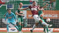 Mattersburg holte bei Rapid 0:2-Rückstand in Überzahl auf